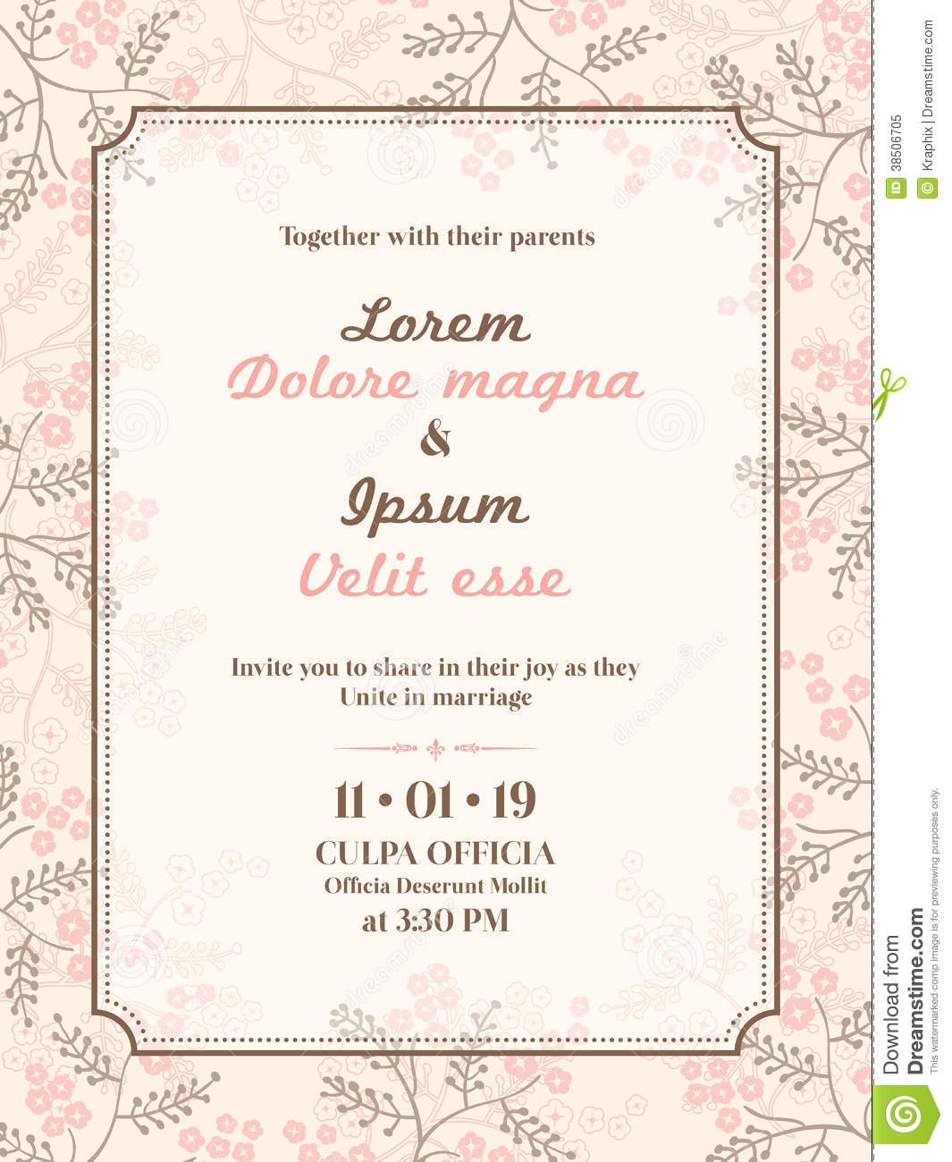 Wedding Invitation Cards Designs Templates