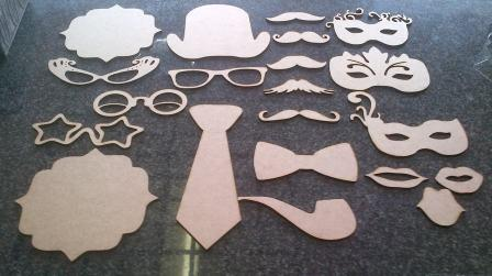 Wood Photo Booth Props