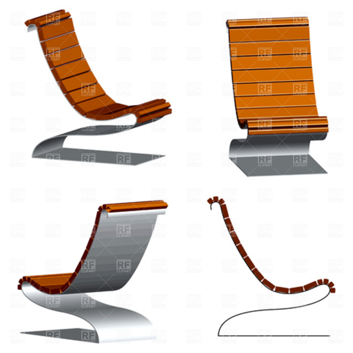 13 Vector Art Wood Chairs Images