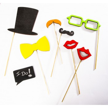 Wooden Photo Booth Props