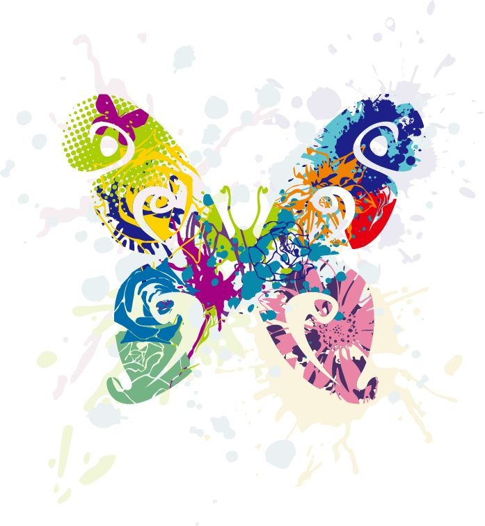 16 Butterflies Graphic Vector Art Wallpaper Images
