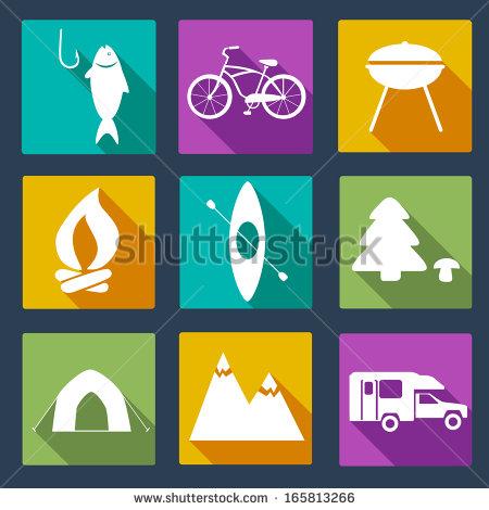 Activities Vector Outdoor Icons