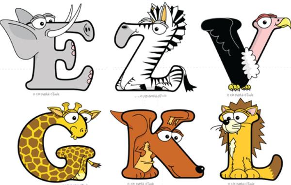 Animal Print Letters Font