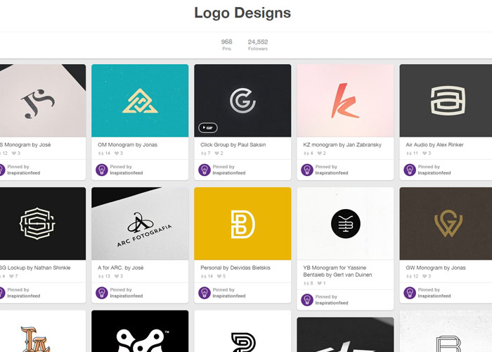 5 Pinterest Logo Design Images