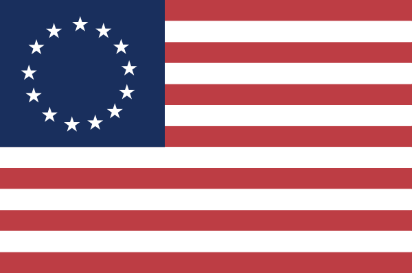 12 Historic American Flag Vector Images