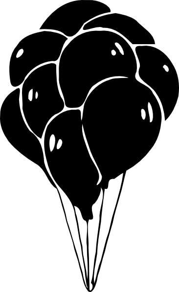 13 Free Vector Black Balloons Images