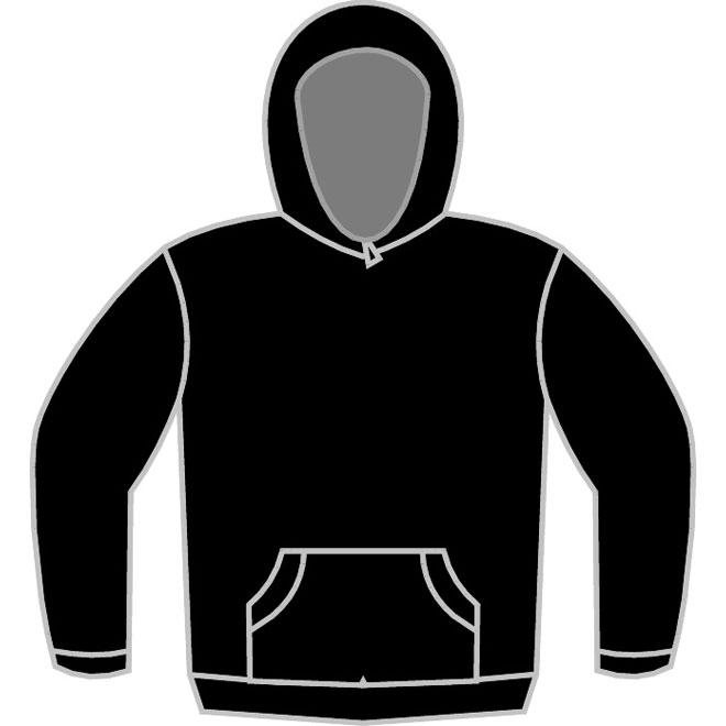 Black Hoodie Template Vector