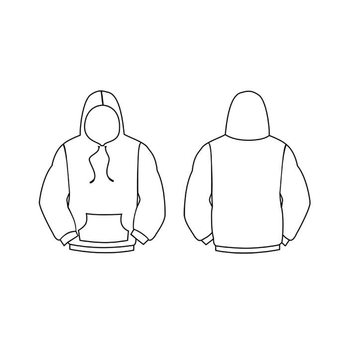 Blank Hoodie Design Template