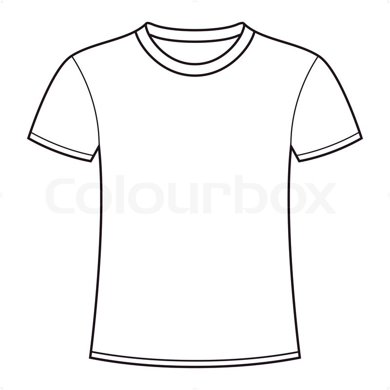 19 blank t shirt vector template images blank t shirt for Blank t shirt design template