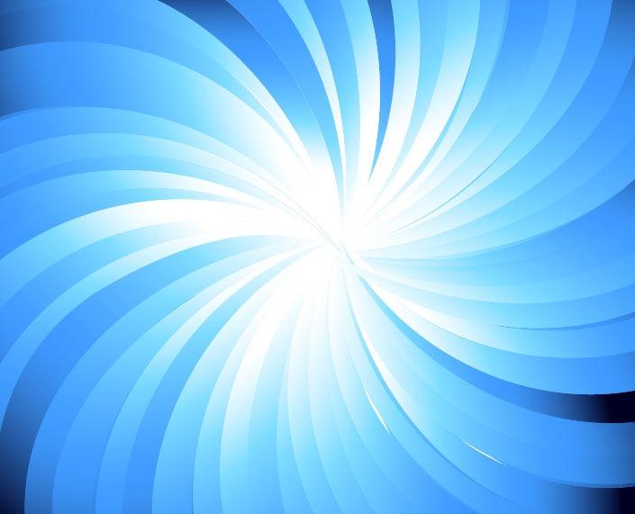 Blue Abstract Vector Sunburst