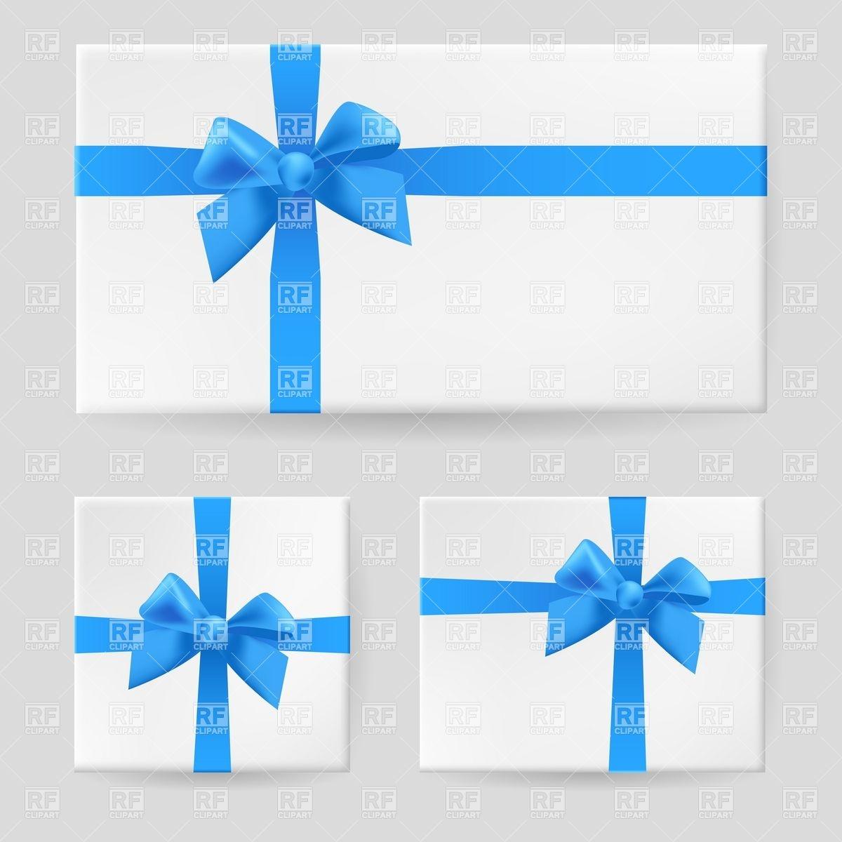 Blue Gift Ribbon Clip Art