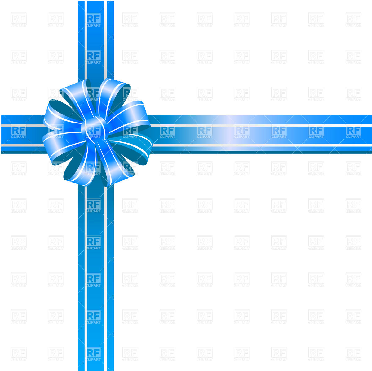 Blue Ribbon Bow Clip Art