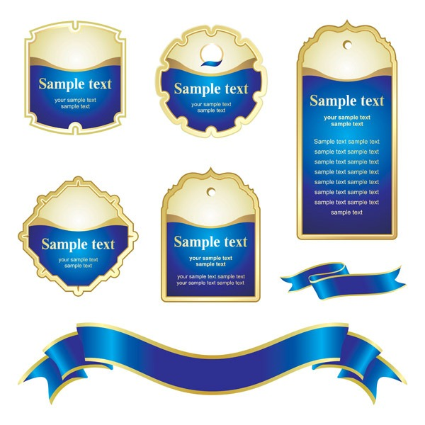 Blue Ribbon Vector Free Download