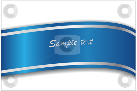 Blue Ribbon Vector Free