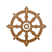 Buddhist Symbol-Wheel of Dharma Buddhism