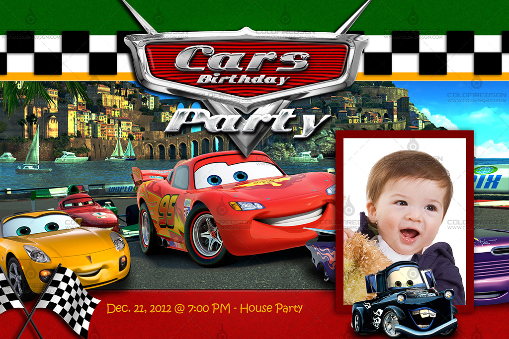 15 Car Psd Templates Images Cars Birthday Template Disney Cars