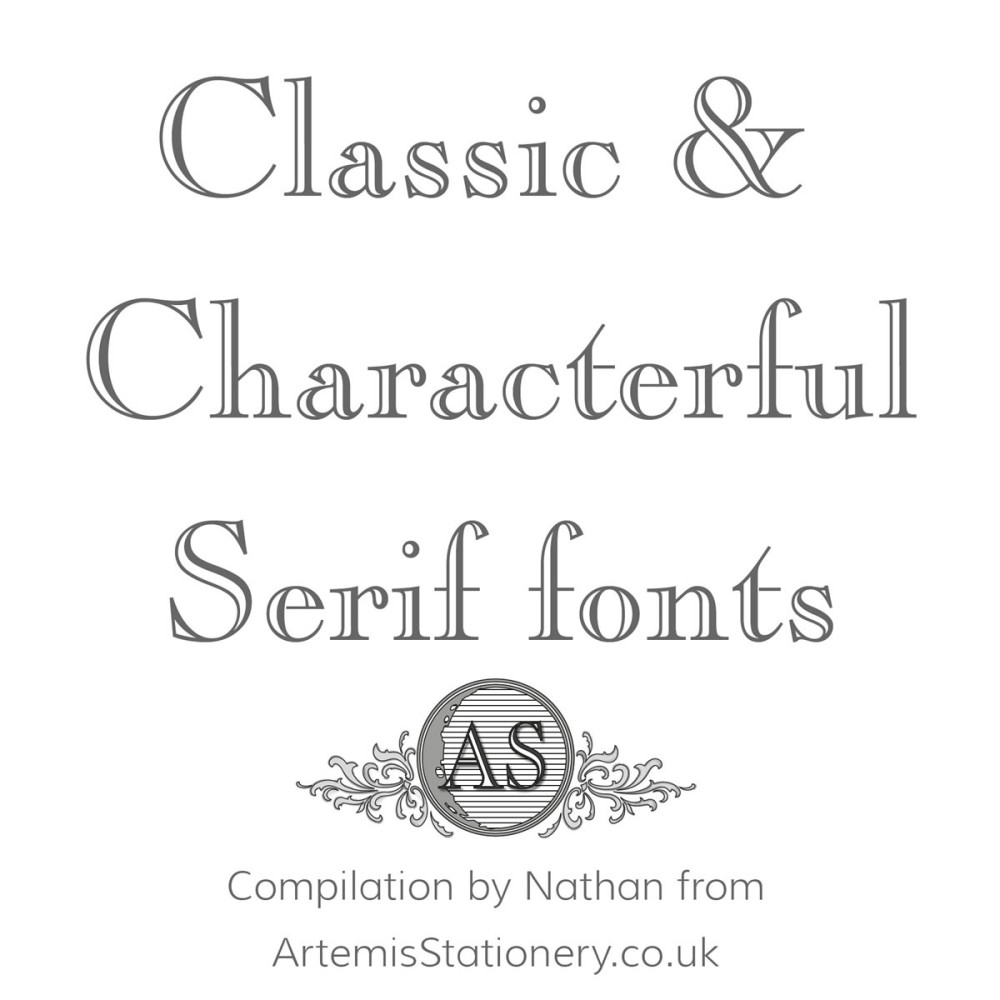 Classic Serif Fonts