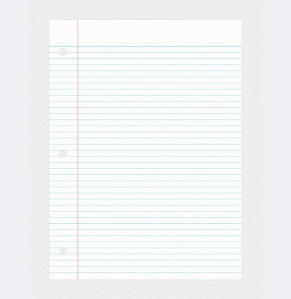 college ruled notebook paper template