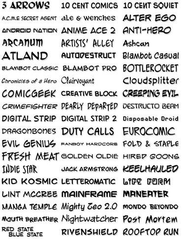 Comic Lettering Font