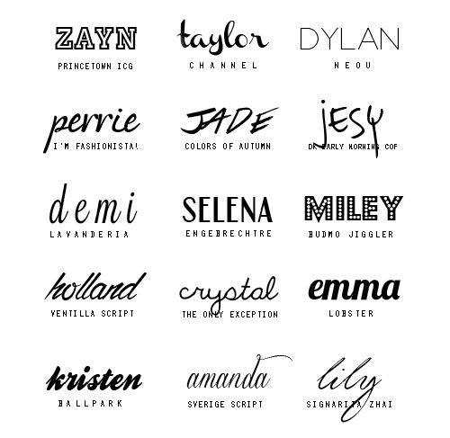 10 Pretty Alphabet Fonts Tumblr Images