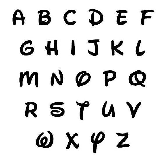 Disney Font Wooden Letters