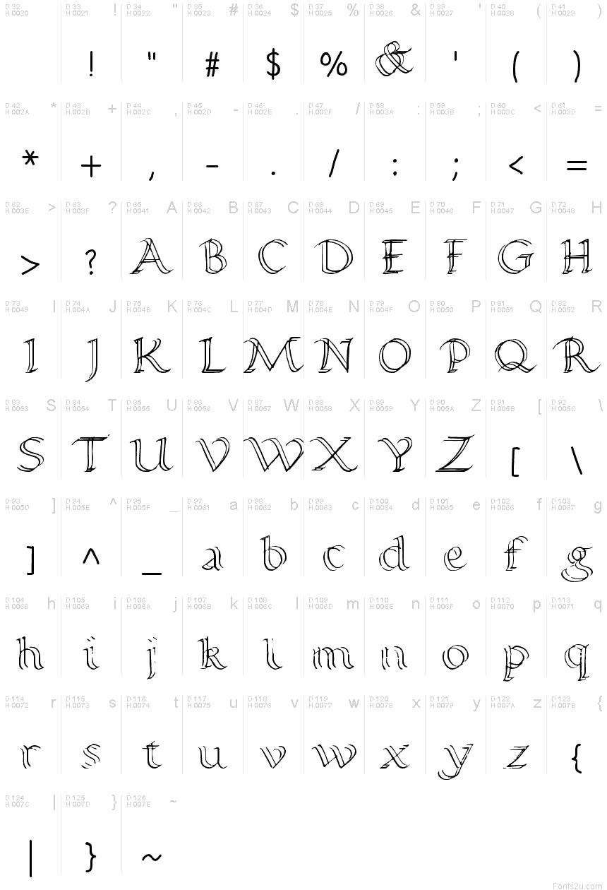 Basic calligraphy fonts images