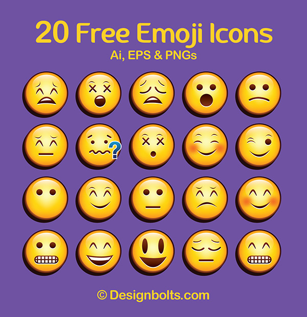 13 Vector Emojis Icons Images