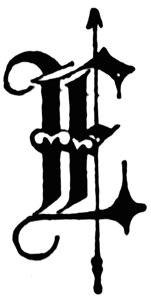 Fancy Old English Letter E
