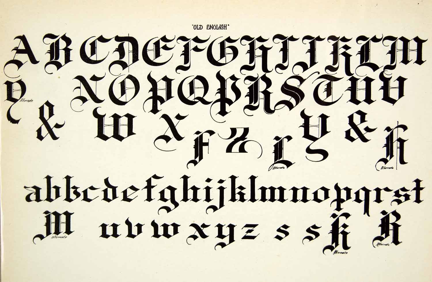 Fancy Old English Letters Alphabet