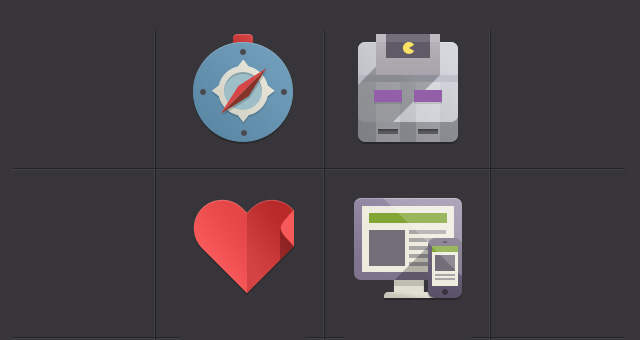 Flat Design App Icons