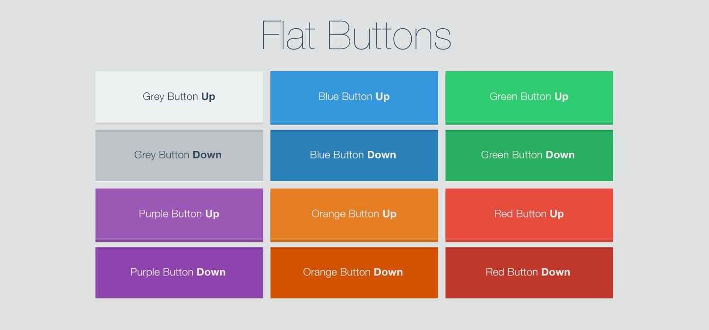 Flat Design Buttons