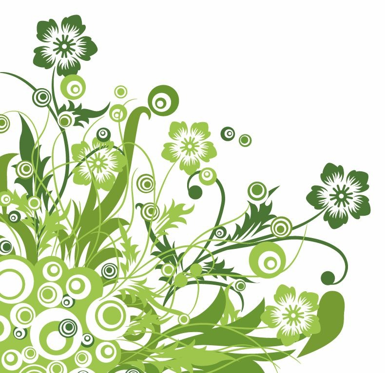 18 Green Flower Vector Art Images