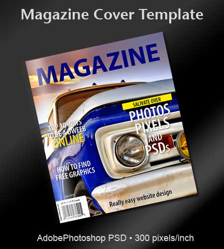 14 Free 3D Magazine Cover Template PSD Images