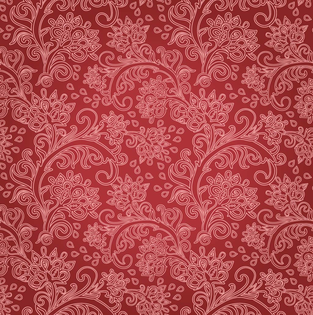 17 Red Floral Background Vector Images