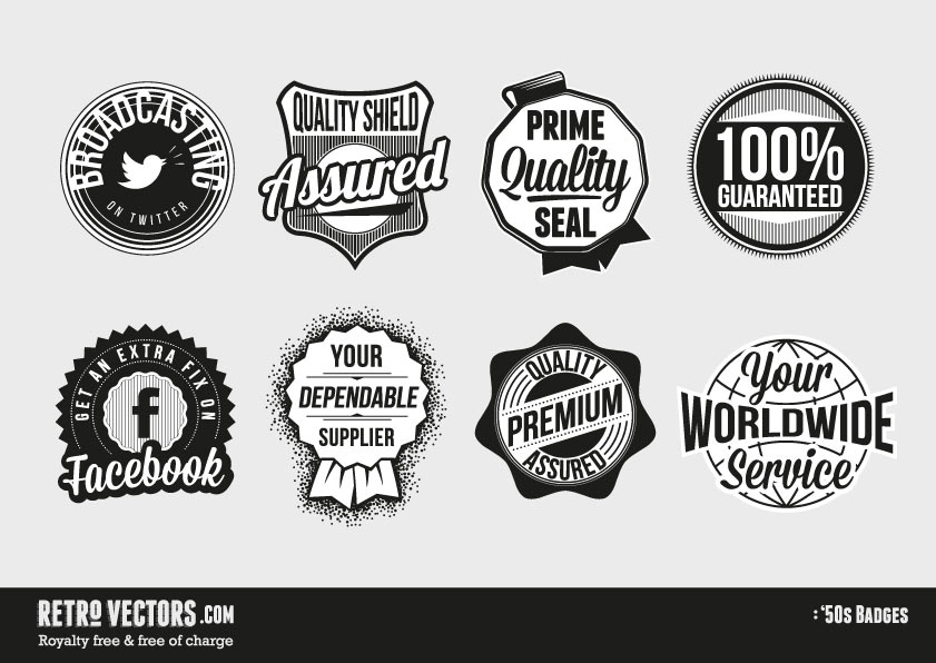 Free Retro Vector Badges