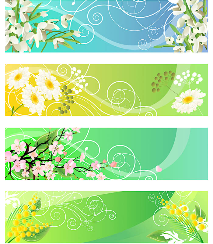 13 Vector Floral Banner Images
