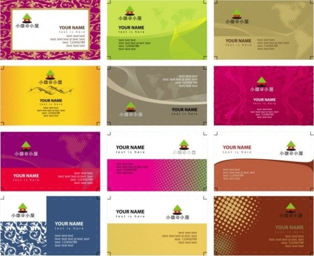 Free Vector Business Card Templates