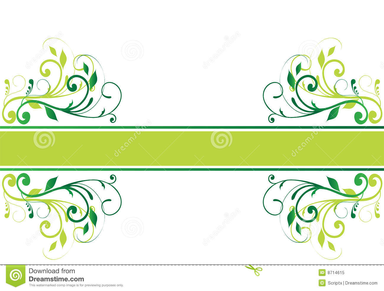 Free Vector Floral Banner