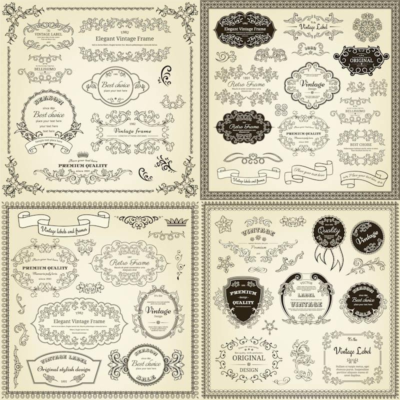 Free Vintage Label Frame Vector