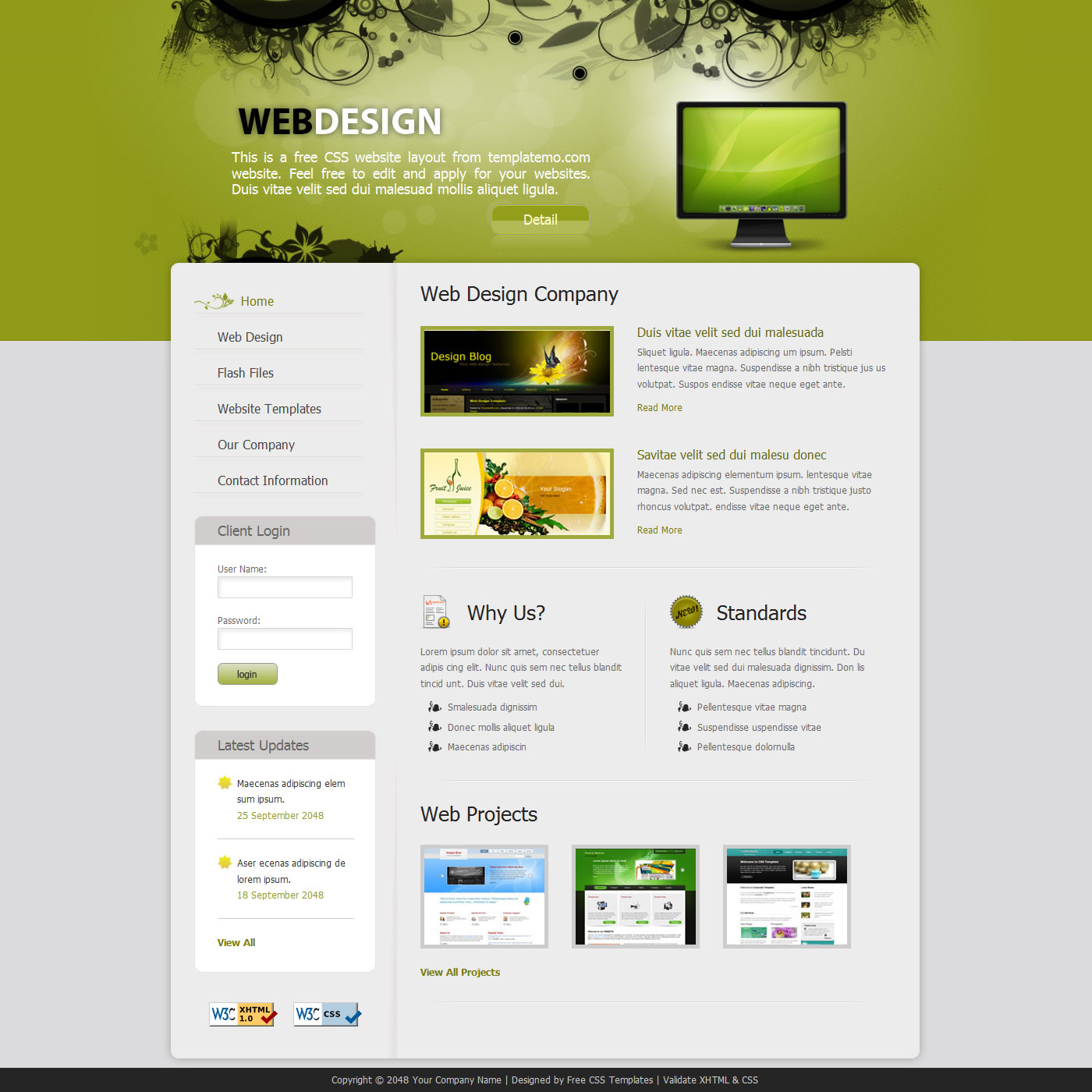 16 Free HTML Web Design Templates Images