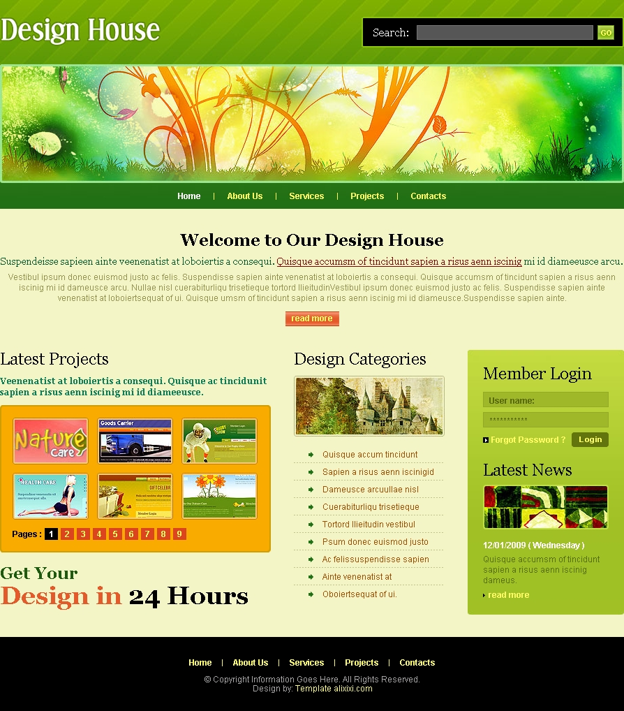 16 free html web design templates images free web design for Free design templates