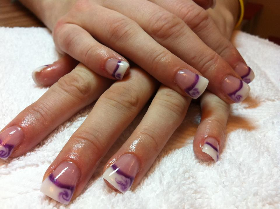 purple gel nail designs - Romeo.landinez.co