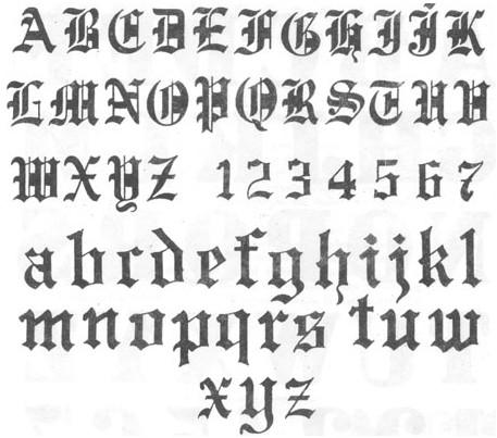 12 Gothic Print Font Images