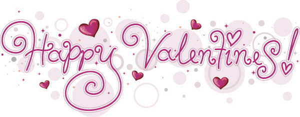 Happy Valentine's Day Word Art