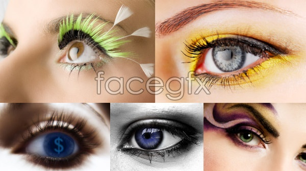 11 Women's Eyes PSD Images