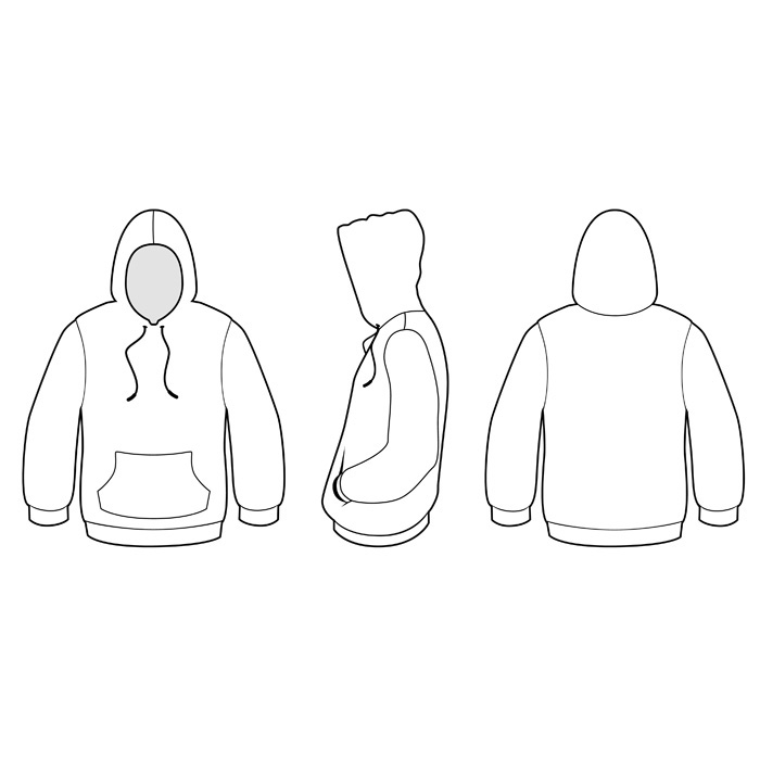 11 Hoodie Vector Template Images