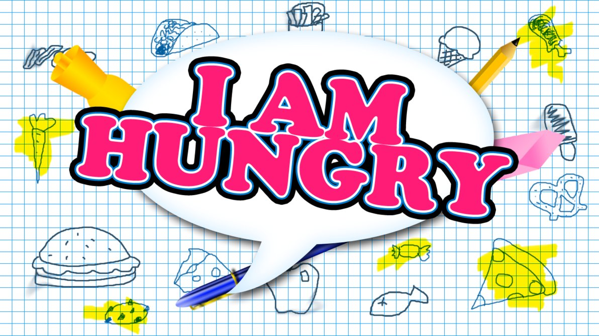I AM Hungry Clip Art
