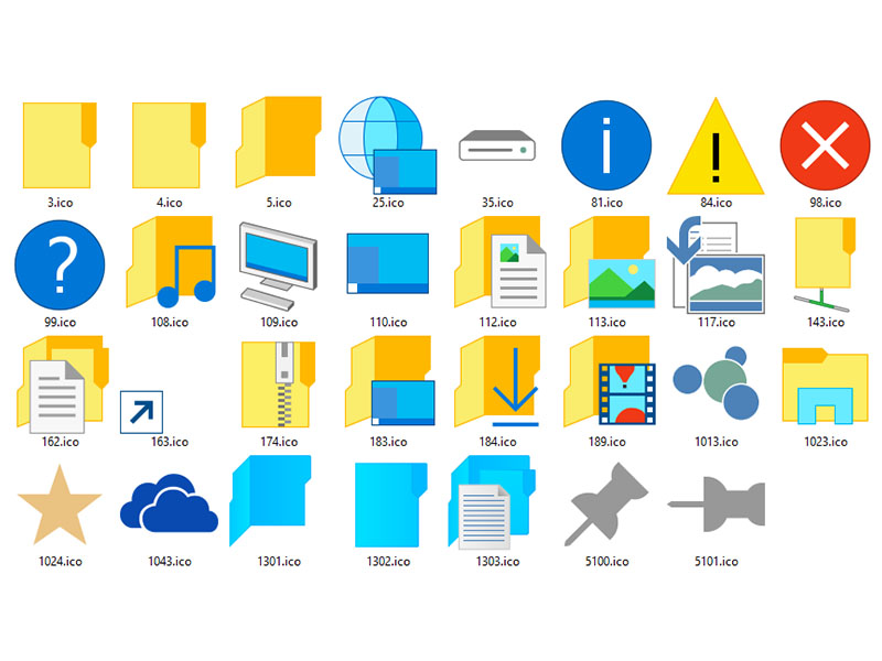 19 Windows 10 Icon Pack Images