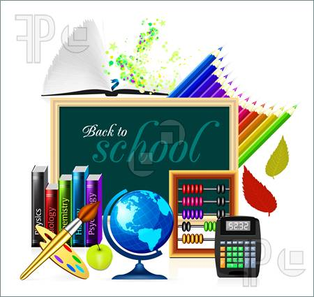 Icon School Clip Art