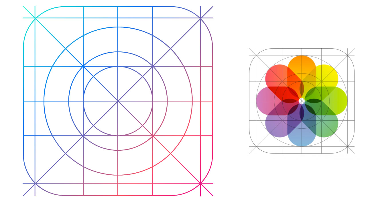 9 IOS 7 Icon Grid Images